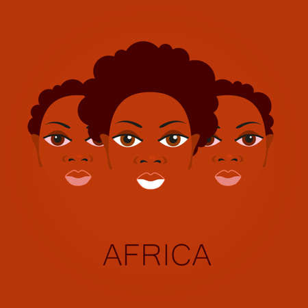 hair: Portrait of Africans. Template design idea for the illustrations, posters on African themes.