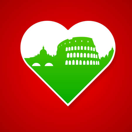 i label: I love Italy - template for the sign. The idea for the label design, printing on clothing, decor souvenirs.