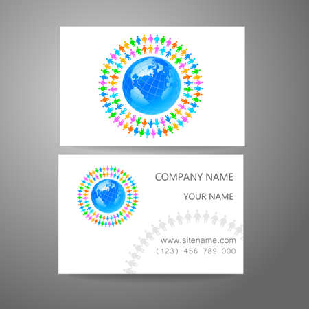 corporate team: Corporate identity for the team. Template design of the company and a business card.