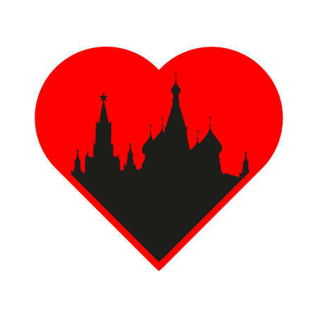 i label: I love Moscow - the template for the sign. The idea for the label design, printing on clothing, decor souvenirs.