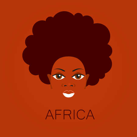 Portrait of Africans. Template design idea for the illustrations, posters on African themes.