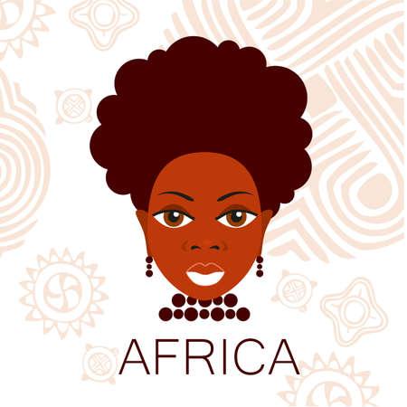 Portrait der Afrikaner. Template Design-Idee für die Illustrationen, Poster im afrikanischen Stil. Vektorgrafik