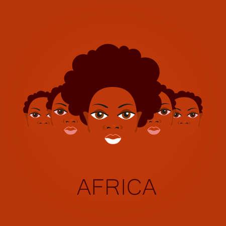アフリカ人の肖像画。アフリカのテーマのポスター、イラストのテンプレート デザインのアイデア。 写真素材 - 44649302