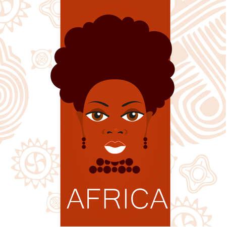 visage profil: Portrait d'Africains. Idée de conception modèle pour les illustrations, affiches sur des thèmes africains.