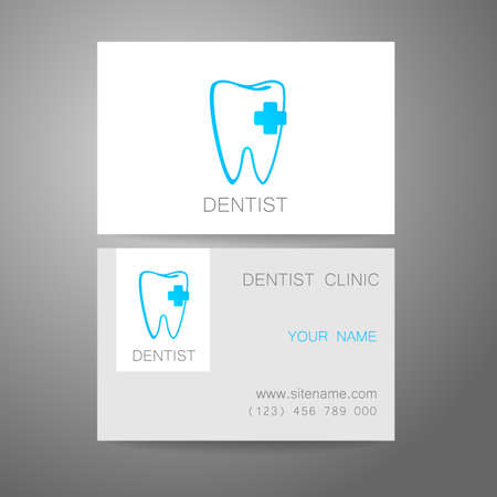 clinic: Dental Clinic. Template design of corporate identity. Business Card.