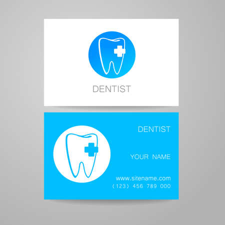 identity card: Dental Clinic. Template design of corporate identity. Business Card.