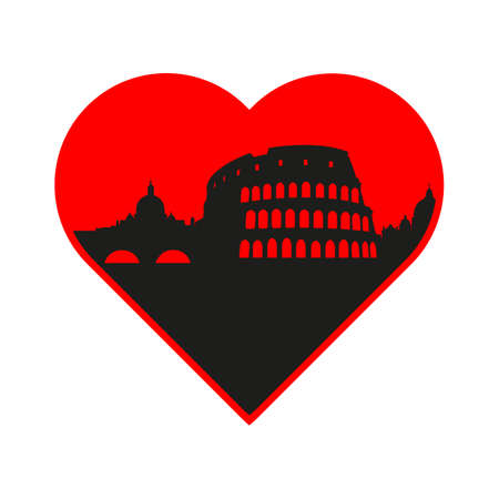 italia: I love Italy - template for the sign. The idea for the label design, printing on clothing, decor souvenirs.