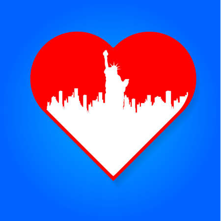 i label: I love New York - a template to mark. The idea for the label design, printing on clothing, decor souvenirs. Illustration