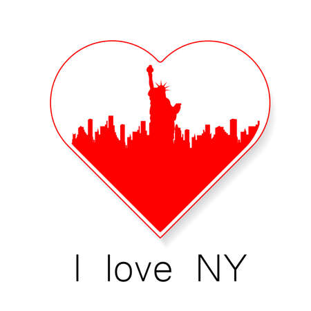 new love: I love New York - a template to mark. The idea for the label design, printing on clothing, decor souvenirs. Illustration