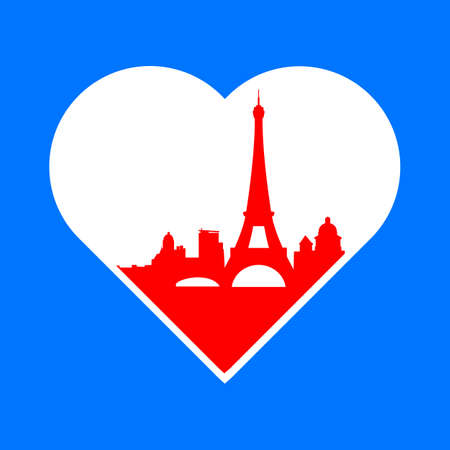 i label: I love Paris - the template for the sign. The idea for the label design, printing on clothing, decor souvenirs.