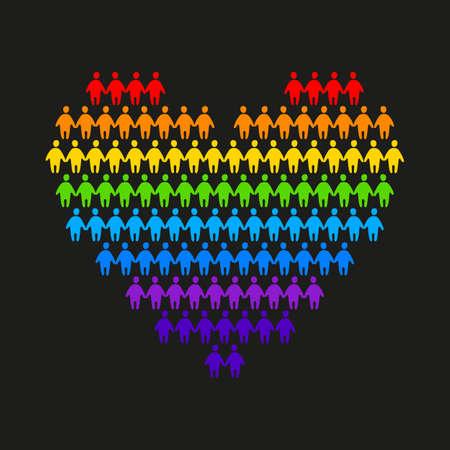 bandera gay: LGBT - un signo de gays y lesbianas
