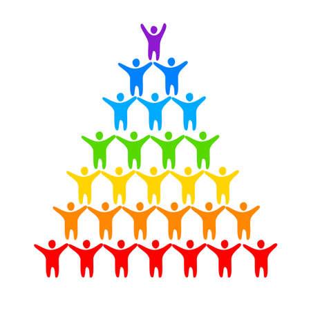 arcoiris: LGBT - un signo de gays y lesbianas