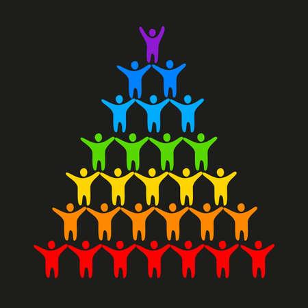 lesbienne: LGBT - un signe de gays et lesbiennes Illustration