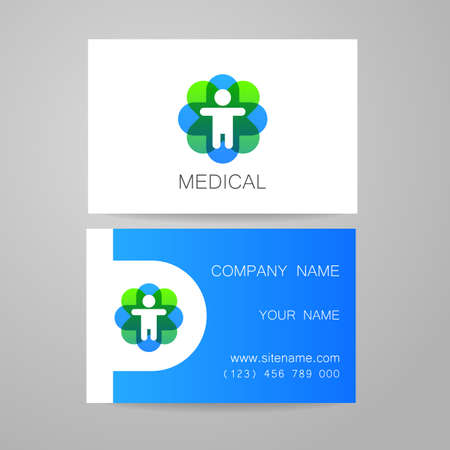 template of medical business cards stock vector 44647870 - Medical Business Cards