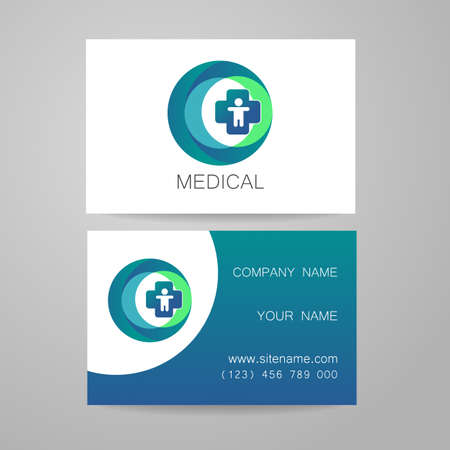 identities: Template of medical business cards. Illustration