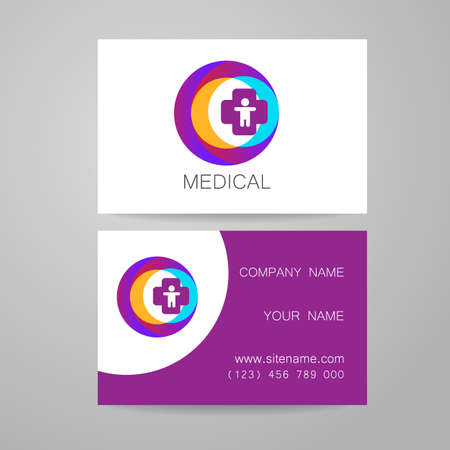 Template of medical business cards royalty free cliparts vectors template of medical business cards royalty free cliparts vectors and stock illustration image 44647718 flashek Choice Image
