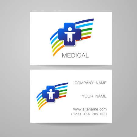 business cards: Template of medical business cards. Illustration