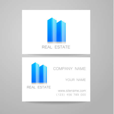 identity card: Real Estate Template design of corporate identity. Business Card.