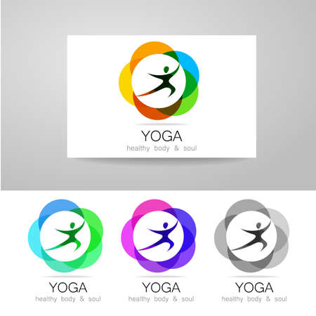 Yoga - Template Logo. Sign Of Yoga Asana. Royalty Free Cliparts