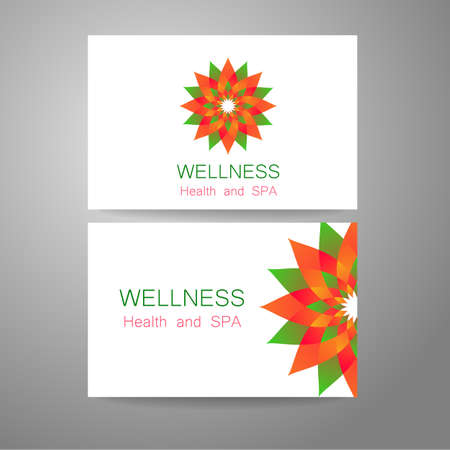 food store: Wellness logo. Template design corporate identity for yoga studios, recreation center, organic food store, natural cosmetics manufacturer, beauty salon, spa and others.
