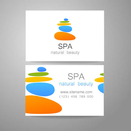 spa salon: Spa - a beauty salon. Stone pyramid as a symbol - of balance and harmony. Template Logo Design for beauty salon, spa center, beauty treatments, massages etc..
