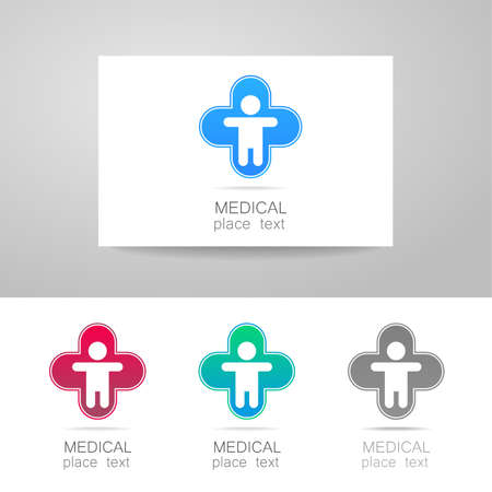 hospital sign: Medical logo - the concept for sign a medical institution, a center, foundation, organization, association, hospital. Vector collection.