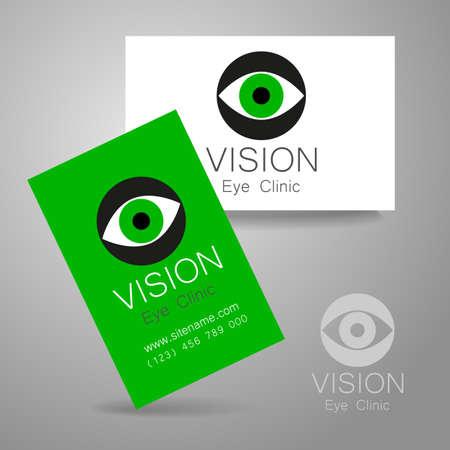 medical center: Vision - eye clinic logo. Design corporate identity for the the optics, medical center, shops glasses and lenses etc.