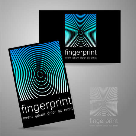 identity card: Fingerprint logo. The presentation of corporate identity. Business Card.