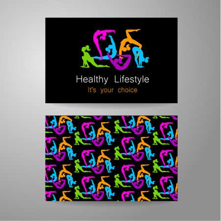 Fitness-Logo. Corporate Design-Vorlage Visitenkarte Sportclub, ein Fitness Center, einen Schönheitssalon und andere.