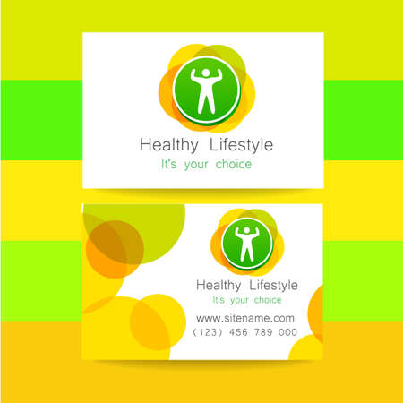 fitness center: Sport club logo. Corporate design template business card sports club, fitness center, sports shop, and others.