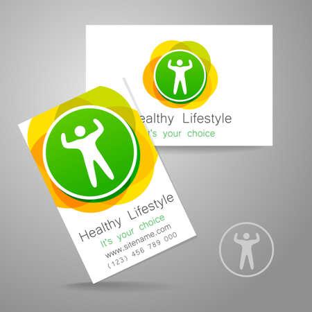 saludable logo: Deporte club de logotipo. Club Corporativa plantilla de diseño deportivo de la tarjeta de negocios, gimnasio, tienda de deportes, y otros.
