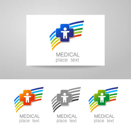 foundation: Medical logo - the concept for sign a medical institution, a center, foundation, organization, association, hospital. Vector collection.