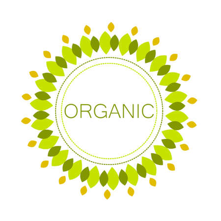 Sign of the organic product. Template logo for organic products and goods.