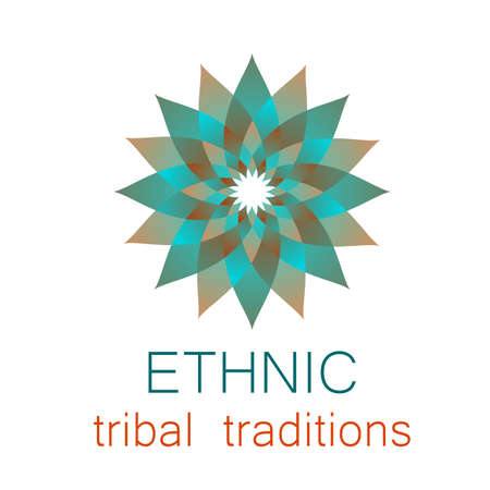Ethnic logo - a traditional symbol. Template design.