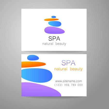 wellness center: Spa - a beauty salon. Stone pyramid as a symbol - of balance and harmony. Template Logo Design for beauty salon, spa center, beauty treatments, massages etc..