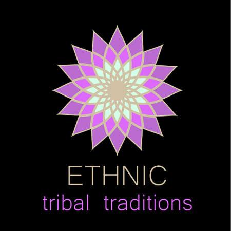 karma graphics: Ethnic logo - a traditional symbol. Template design.