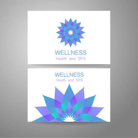 organic spa: Wellness logo. Template design corporate identity for yoga studios, recreation center, organic food store, natural cosmetics manufacturer, beauty salon, spa and others.