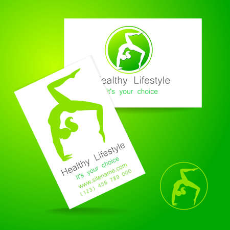members: Fitness logo. Corporate design template business card sports club, fitness center, beauty salon and others.
