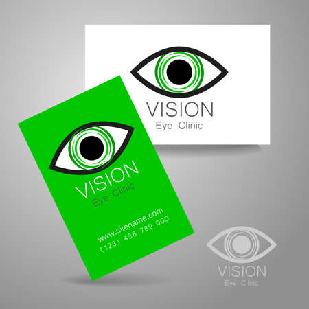 optics: Vision - eye clinic logo. Design corporate identity for the the optics, medical center, shops glasses and lenses etc.