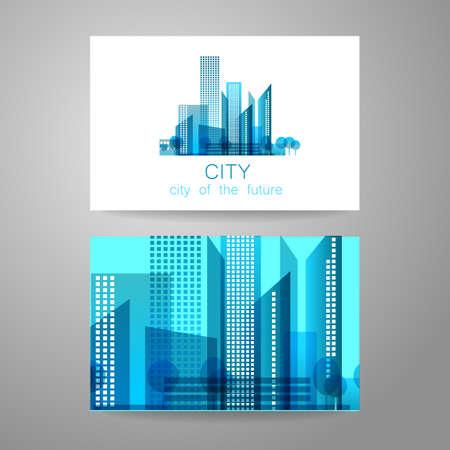 logo home: Eco city - logo. Template concept of corporate identity.