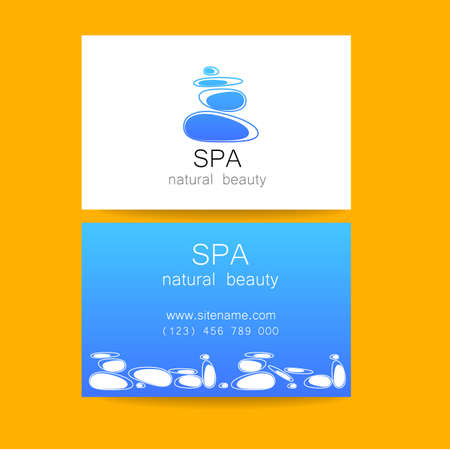 spa stone: Spa - a beauty salon. Stone pyramid as a symbol - of balance and harmony. Template Logo Design for beauty salon, spa center, beauty treatments, massages etc..