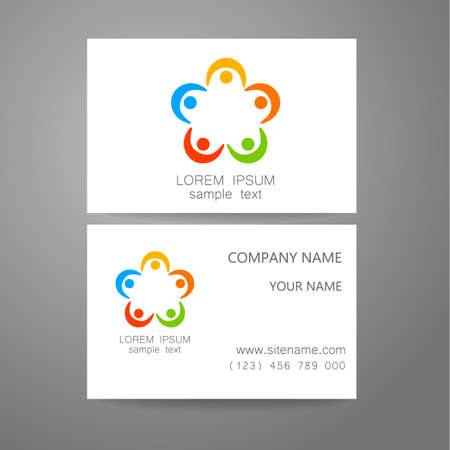 Connection - template logo. Sign the connection, communication, social networking, association and union. The idea for the design of corporate identity.