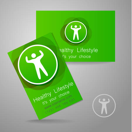 sports club: Sport club logo. Corporate design template business card sports club, fitness center, sports shop, and others.