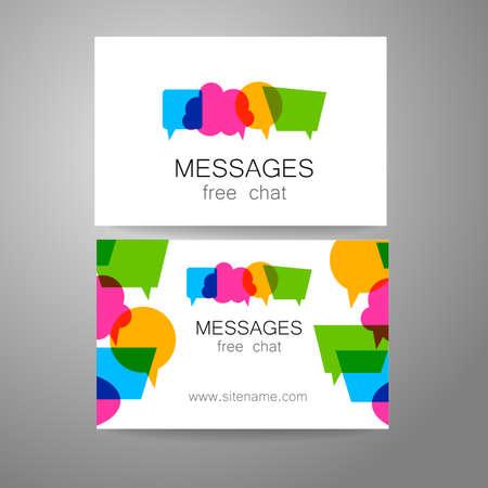 correo electronico: Mensajes - logo. La idea para el diseño de la marca. Logo para chat, red social, una Escuela de Lengua Extranjera, correspondencia por correo electrónico, y otros. Vectores