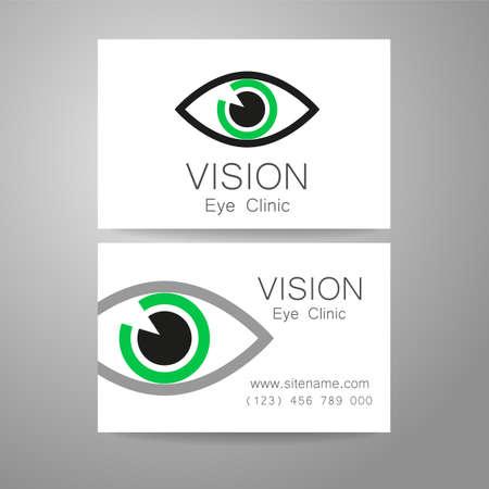 eye glasses: Vision - eye clinic logo. Design corporate identity for the the optics, medical center, shops glasses and lenses etc.