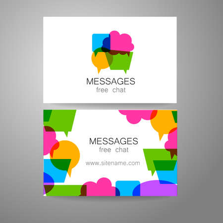 Messages - logo. The idea for the design of the mark. Logo for chat, social networking site, a Foreign Language School, email correspondence, and others.