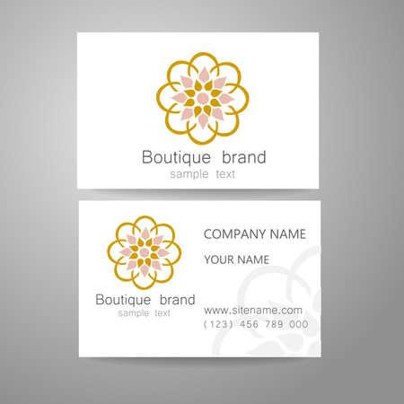 Marchio Boutique - il marchio della mascherina. Il lusso, la ricchezza, esclusivo, affari, presentazione di corporate identity.