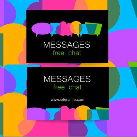 chat: Messages - logo. The idea for the design of the mark. Logo for chat, social networking site, a Foreign Language School, email correspondence, and others.