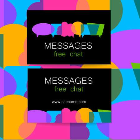 Messages - logo. L'idée pour la conception de la marque. Logo pour le chat, site de réseautage social, une École des langues étrangères, la correspondance électronique, et d'autres.