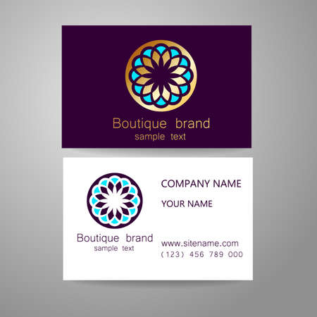 royal logo: Boutique brand - template logo. The luxury, richness, exclusive, business, presentation of corporate identity. Illustration